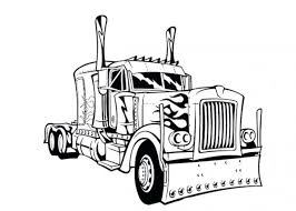 Free Printable Semi Truck Coloring Pages Transformers Prime Tow Trailer