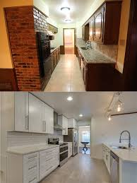 Extraordinary Galley Kitchen Remodel Before And After Run To Radiance On Kitchens