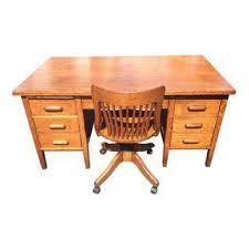 antique golden oak teachers desk and bankers chair 5472 aspect fit width 320 height 320