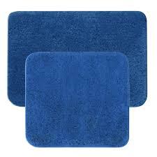 badematten garnitur 2 teilig badteppich 2er set blau