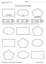 Snapshot Image Of Colors And Shapes Worksheet 4