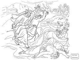 Coloring Pages Prophet Elijah Ahab And Prophets Of Baal On Mount Carmel Christianity Bible
