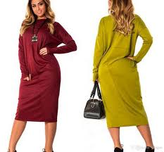 2017 autumn winter 6xl plus size dresses for women long sleeve