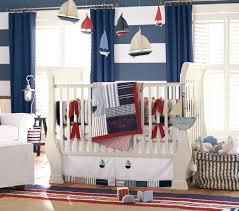 chambre enfant chambre bébé garçon style nautique voiliers lit