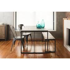 Aurelle Home Industrial Rustic Farmhouse Kitchen Table