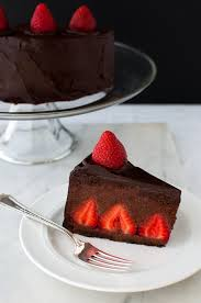 Chocolate Strawberry Mousse Cake Chocolate cake filled with fresh strawberries and chocolate strawberry mousse and