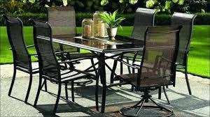 Lawn Furniture Walmart Black Rectangle Modern Metal Patio