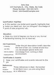 Bartender Resume Objective Samples Quoet Jobs For People With No Work Experience 12 Example Without