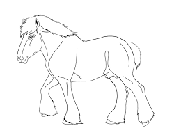 Draft Horse Coloring Pages 20 To Make