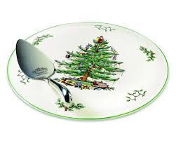 Spode Christmas Tree Mugs With Spoons by Spode Christmas Tree Cake Plate And Server Spode Uk