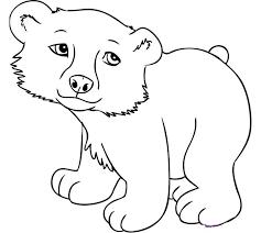 Cute Baby Bear Template