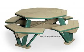 classic collection octagon picnic table american recycled