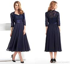 2016 vintage mother of the bride dresses sweetheart navy blue