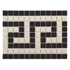 Merola Tile Gotham Square Greek Key Border 9 3 4 In X 13