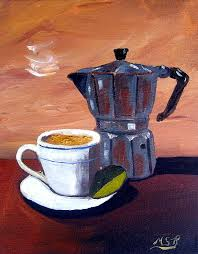 Cuban Coffee And Lime Tan Right Painting By Maria Soto Robbins