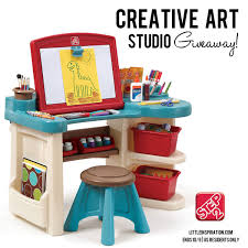 Step2 Deluxe Art Desk by Step2 Creative Art Studio Giveaway Happy Hour Projects