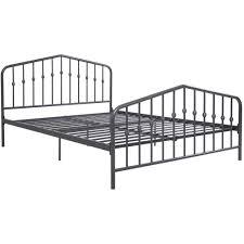 Metal Bed Full by 9 By Novogratz Bushwick Queen Metal Bed Gunmetal Gray Walmart Com