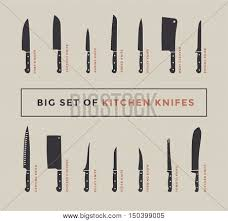 Kitchen Knives Names Big Set Kitchen Vector Photo Free Trial Bigstock