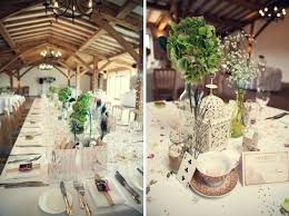 Rustic Table Decoration Wedding Centerpieces Vintage Decorations At Moor Farm Setting