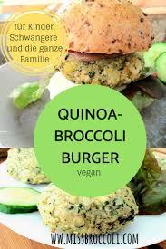 quinoa broccoli burger aus dem ofen