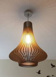 Laser Cut Lamp Shade by Porcelain Inspired Laser Cut Wooden Lampshade No 3