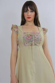 vintage 70s hippie floral tiered ruffle lace up dress corset dress