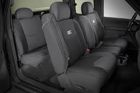Black Neoprene Seat Covers For 1999-2006 Chevy 1500 | Rough Country ...