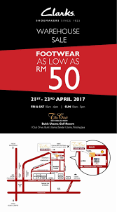 Clarks Shoes Warehouse Sale From RM50 @ The Club Bandar ...