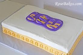 LSU Tiger Stripes Sheet Cake