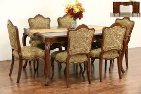 Country French 1940's Vintage Dining Set, Table, Leaves, 6 Chairs New  Upholstery Art Deco Ding Room Set Walnut French 1940s Renaissance Style Ding Room Ding Room Image Result For Table The Birthday Party Inlaid Mahogany Table With Four Chairs Italy Adams Northwest Estate Sales Auctions Lot 36 I Have A Vintage Solid Mahogany Set That F 298 As Italian Sideboard Vintage Kitchen And Chair In 2019 Retro Kitchen 25 Modern Decorating Ideas Contemporary Heywood Wakefield Fniture Mediguesthouseorg