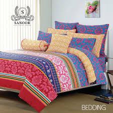 Clarissa Print Orange Bed Sheet