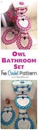 Owl Themed Bathroom Set by Owl Bathroom Set Free Crochet Pattern Owl Bathroom Set