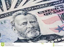 Download 50 Dollar Bill With Ulysses S Grant Portrait Stock Image