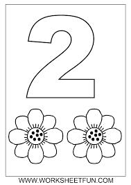 Number 2 Preschool Coloring Worksheets