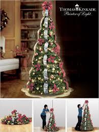 Thomas Kinkade Christmas Tree For Sale by Thomas Kinkade Pre Lit Pull Up Christmas Tree Makes Decorating