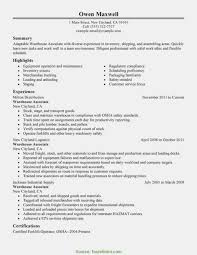 Interesting Warehouse Worker Skills General Resume Final List Of
