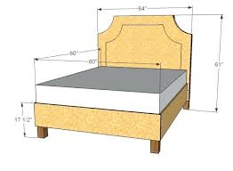 catchy queen size platform bed dimensions – active t