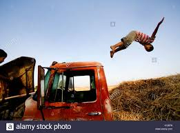 100 Truck Jumps Boy Jumps From Truck Onto Hay In San Luis Mexico Stock Photo