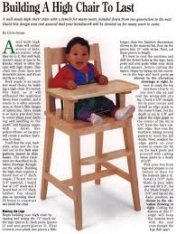 High Chair Plans - Children's Furniture Plans | Woodworking ... Antique Baby High Chair That Also Transforms Into A Rocking Weavers Fniture Of Sugarcreek Amish Country Horse Startswithmeco Solid Wood Handcrafted In Portland Oregon The Curve Back Poly Rocker High Chair Plans Childrens Odworking Cheap Find Deals On Line At Rockers Gliders Archives Oak Creek Hammond Hutch Top Ding Room Sets Tables Chairs Etc Rocard Classic 5 Piece Set By Impressions Fusion Designs Ruby Gordon Home