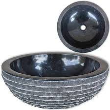 lavabo en marbre noir crème vasque à poser lave meuble pour