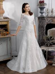 a line wedding dress with sleeves naf dresses
