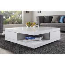 table basse design blanc laque ibiza