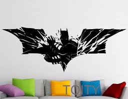 aliexpress com buy superhero wall sticker batman movie poster