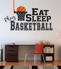 Basketball Wall Decal Nursery Boy Girl Eat Sleep Play