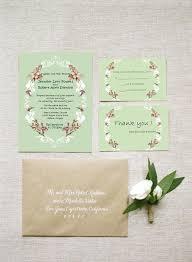 Chic Wedding Invitations Rustic Sage Green Uk