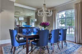 Cozy Blue Dining Room Chairs 25