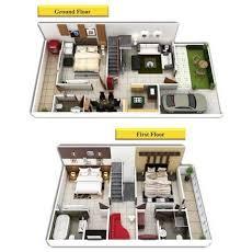 Images Duplex Housing Plans by Duplex House Plans 3d View In Bhel Bhopal Id 11402837548