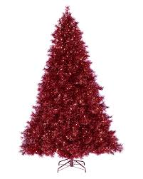 Ruby Red Tinsel Christmas Tree RedChristmas Rollover To Zoom In