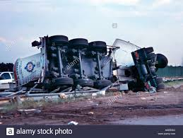 100 Truck Rollover A Long Haul Truck Rollover Accident Stock Photo 8106123 Alamy