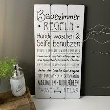 schild holz badregeln badezimmer regeln holz schilder